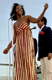 Gladys Knight aboard the USS Ranger